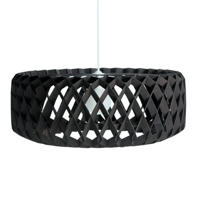 Thiel 1-Light Drum Pendant Shade Color: Black