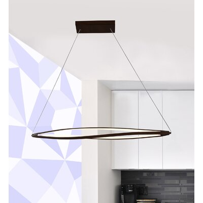Twist 3-Light Kitchen Island Pendant Finish: Black