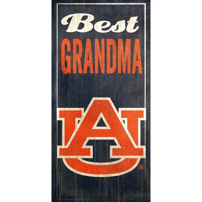 NCAA Best Grandma Graphic Art Plaque NCAA Team: Auburn University