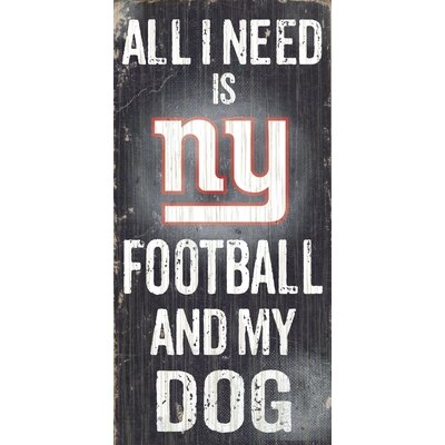 Fan Creations NFL Football and My Dog Graphic Art Plaque - NFL Team: New York Giants at Sears.com