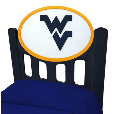 Fan Creations NCAA Slat Headboard - Finish: Black, NCAA Team: West Virginia, Size: Full