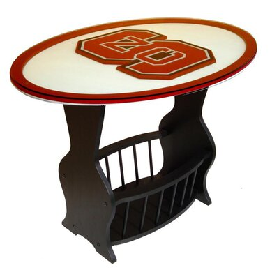 NCAA Glass End Table NCAA Team: North Carolina State