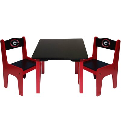 Fan Creations NCAA Kids' 3 Piece Table and Chair Set - NCAA Team: Georgia at Sears.com
