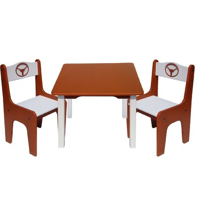 Fan Creations NCAA Kids' 3 Piece Table and Chair Set - NCAA Team: Texas at Sears.com