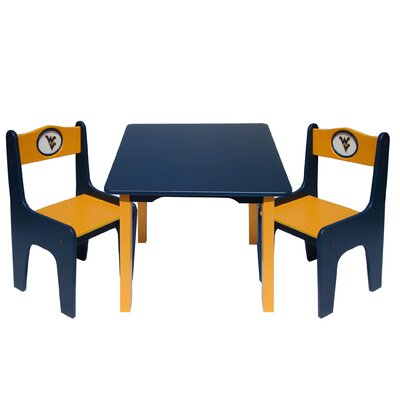 Fan Creations NCAA Kids' 3 Piece Table and Chair Set - NCAA Team: West Virginia at Sears.com