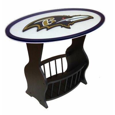 NFL Logo End Table NFL Team: Baltimore Ravens
