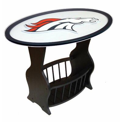 NFL Logo End Table NFL Team: Denver Broncos