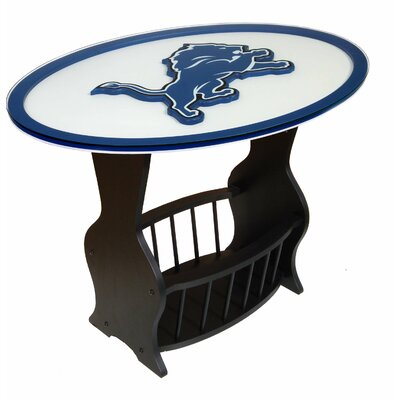 NFL Logo End Table NFL Team: Detroit Lions