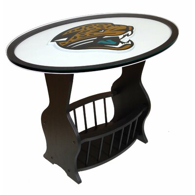 NFL Logo End Table NFL Team: Jacksonville Jaguars