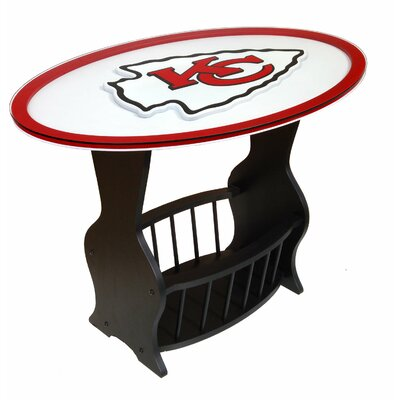 NFL Logo End Table NFL Team: Kansas City Chiefs