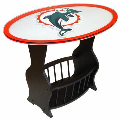 NFL Logo End Table NFL Team: Miami Dolphins