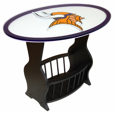 NFL Logo End Table NFL Team: Minnesota Vikings