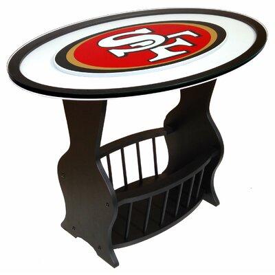 NFL Logo End Table NFL Team: San Francisco 49ers