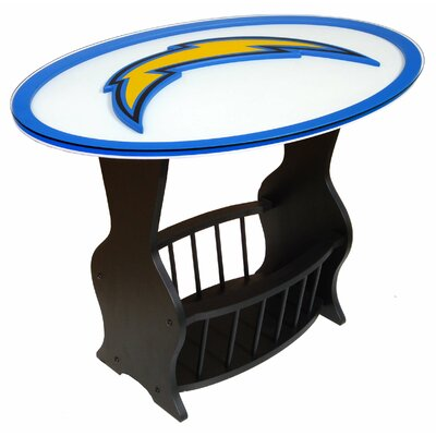 NFL Logo End Table NFL Team: San Diego Chargers