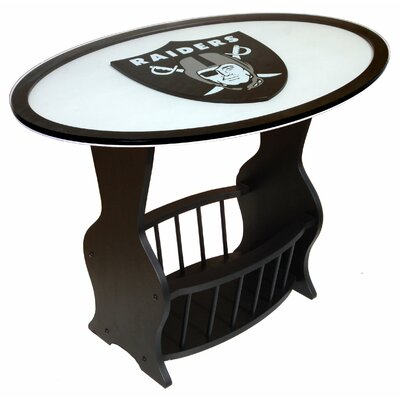 NFL Logo End Table NFL Team: Oakland Raiders