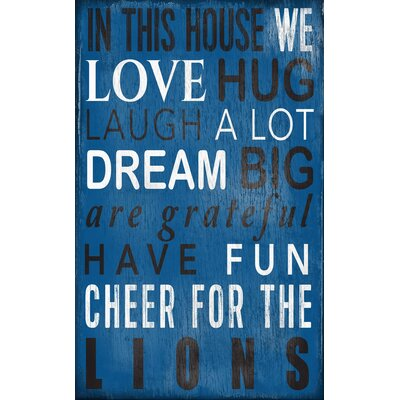 Image of NFL In This House Sign Wall D
