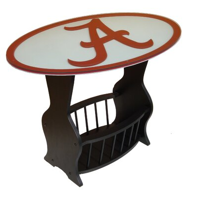 In store financing NCAA Glass End Table NCAA Team: Ala...