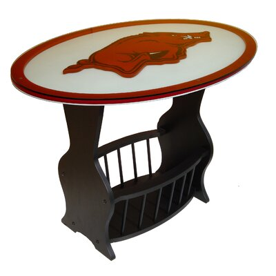 No credit financing NCAA Glass End Table NCAA Team: Ark...