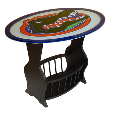 NCAA Glass End Table NCAA Team: Florida Gators
