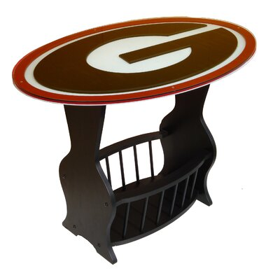 NCAA Glass End Table NCAA Team: Georgia