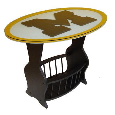 NCAA Glass End Table NCAA Team: Michigan