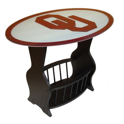 NCAA Glass End Table NCAA Team: Oklahoma