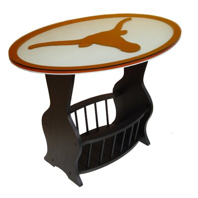NCAA Glass End Table NCAA Team: Texas