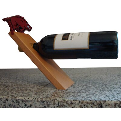 NCAA Floating Stand 1 Bottle Tabletop Wine Rack NCAA Team: Arkansas