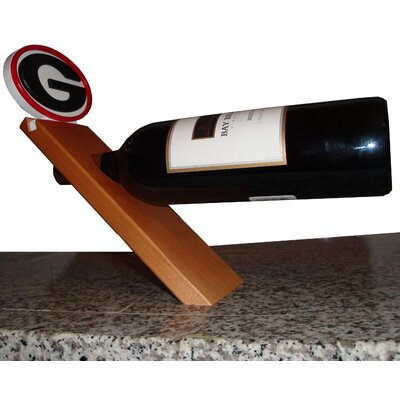 NCAA Floating Stand 1 Bottle Tabletop Wine Rack NCAA Team: Georgia