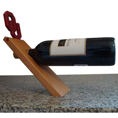 NCAA Floating Stand 1 Bottle Tabletop Wine Rack NCAA Team: Oklahoma