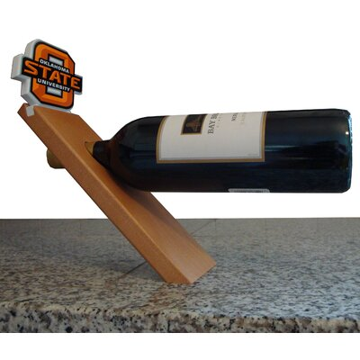 NCAA Floating Stand 1 Bottle Tabletop Wine Rack NCAA Team: Oklahoma State