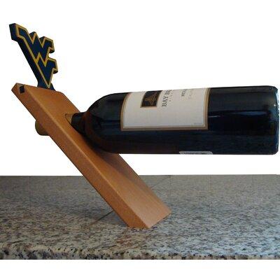 NCAA Floating Stand 1 Bottle Tabletop Wine Rack NCAA Team: West Virginia