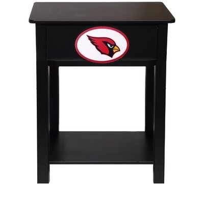 Nfl End Table With Storage NFL Team: Arizona Cardinals
