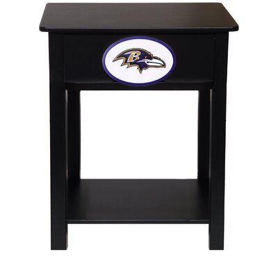 Nfl End Table With Storage NFL Team: Baltimore Ravens