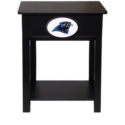 Nfl End Table With Storage NFL Team: Carolina Panthers