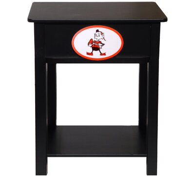 Nfl End Table With Storage NFL Team: Cleveland Browns