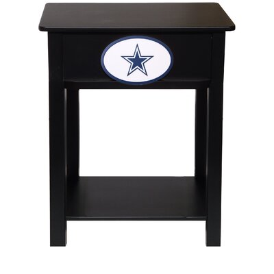 Nfl End Table With Storage NFL Team: Dallas Cowboys