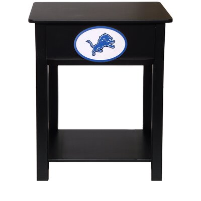 Nfl End Table With Storage NFL Team: Detroit Lions