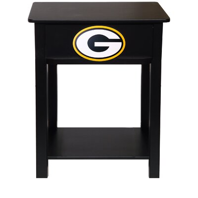 Nfl End Table With Storage NFL Team: Green Bay Packers
