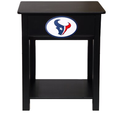 Nfl End Table With Storage NFL Team: Houston Texans