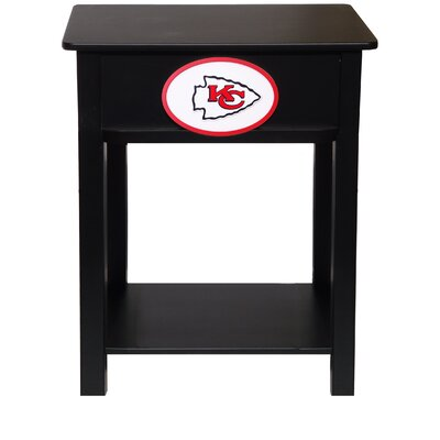 Nfl End Table With Storage NFL Team: Kansas City Chiefs