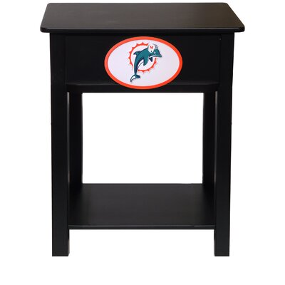 Nfl End Table With Storage NFL Team: Miami Dolphins