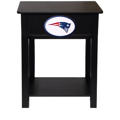 Nfl End Table With Storage NFL Team: New England Patriots