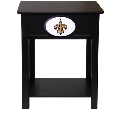 Nfl End Table With Storage NFL Team: New Orleans Saints
