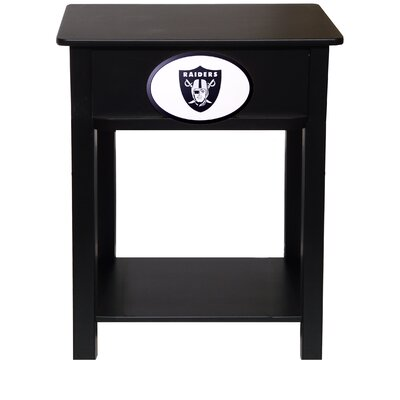 Nfl End Table With Storage NFL Team: Oakland Raiders