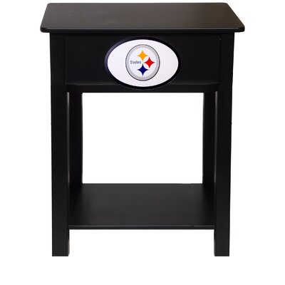 Nfl End Table With Storage NFL Team: Pittsburgh Steelers