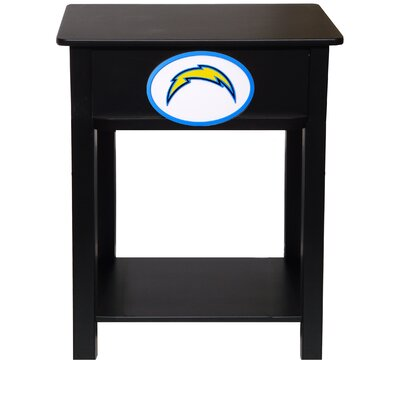 Nfl End Table With Storage NFL Team: San Diego Chargers