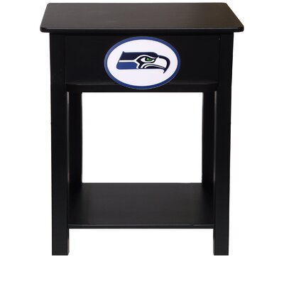 Nfl End Table With Storage NFL Team: Seattle Seahawks
