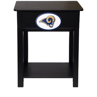 Nfl End Table With Storage NFL Team: St. Louis Rams