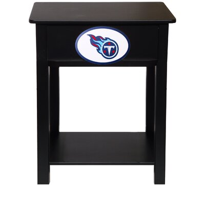 Nfl End Table With Storage NFL Team: Tennessee Titans